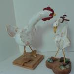 Chicken & Duck -  carved, sculpted, painted