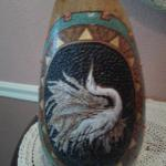 Great White Egret - carved, resin inlay, painted, woodburned     (my favorite- speaks from my heart & soul about my joy in my Lord